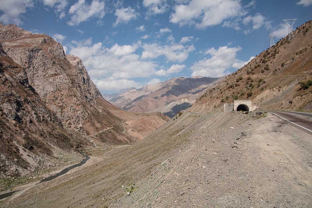 Fann Mountains, Tajikistan, tunnel, M34, Anzob Tunnel