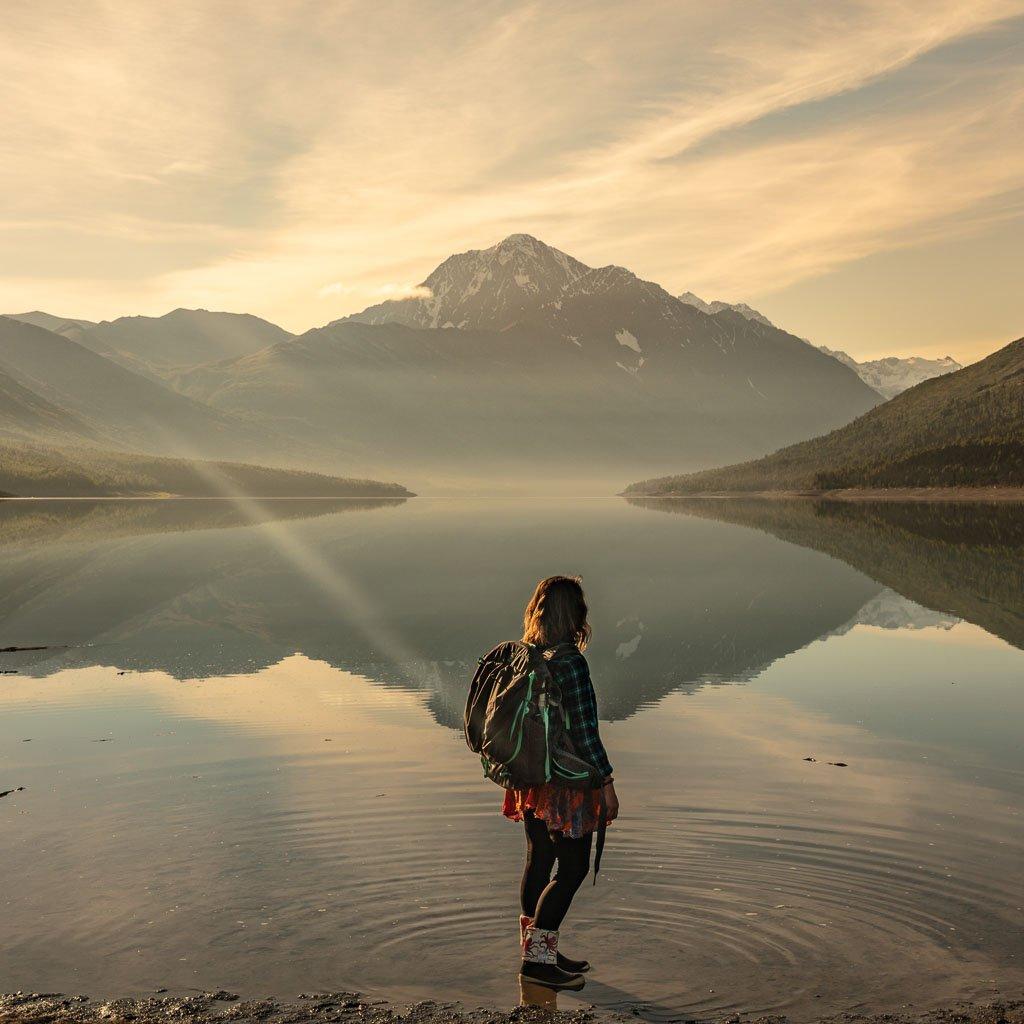 Eklutna sunrise, Eklutna, Alaska