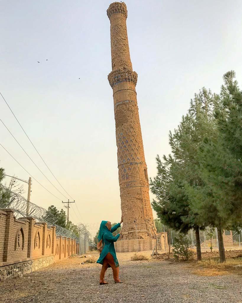 Minaret, Herat, Afghanistan, Gowar Shad Mausoleum, Musallah Complex