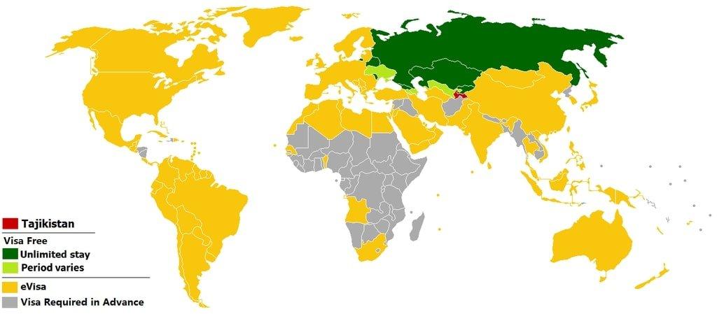 Visa Policy of Tajikistan