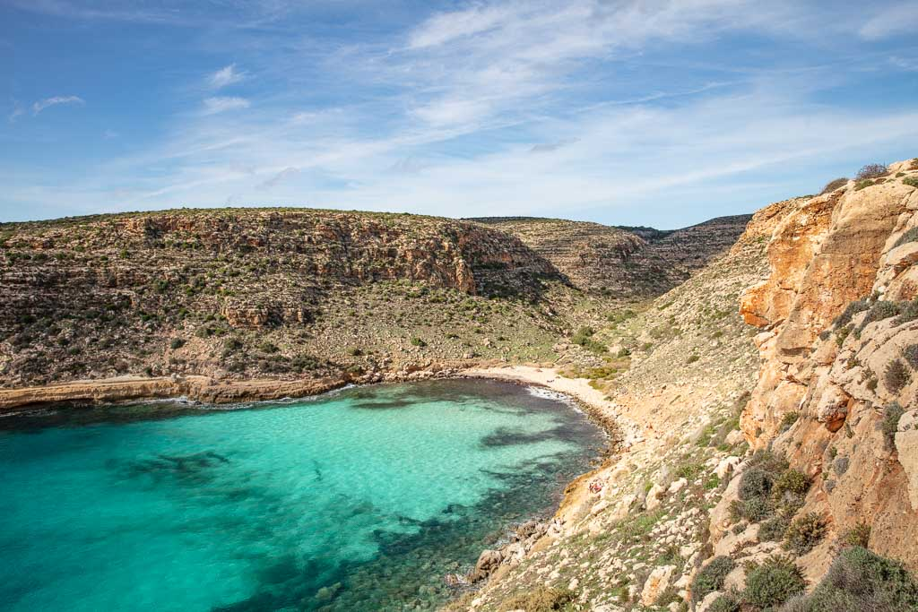 Lampedusa, Lampedusa travel, Lampedusa travel guide, Italy, Southern Italy, Sicily, Pelagie, Pelagie Islands, Cala Pulcino, Pulcino
