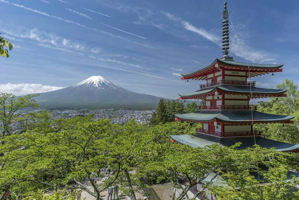 Chureito, Chureito Pagoda, Fujiyoshida, Japan, Tokyo to Kawaguchiko, Asia