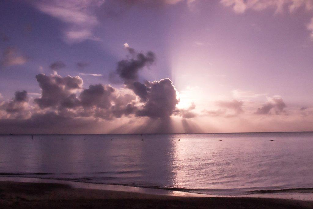 Combate Beach, sunset, Puerto Rico, US territory