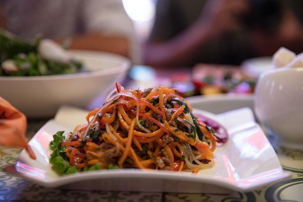 Funchoza, Korean food, Kyrgyzstan, Karakol, Karakol food, Karakol restaurants