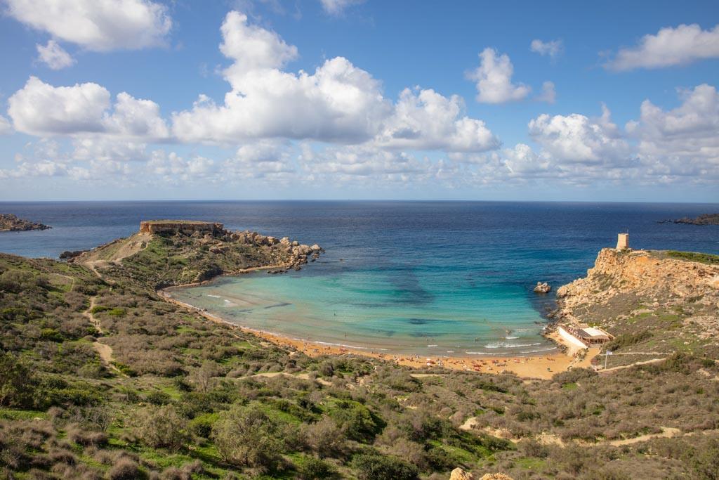 Malta, Malta travel, Malta travel guide, 4 days Malta, Malta itinerary, Europe, Mediterranean, 4 day Malta, 4 day Malta itinerary, Ghajn Tuffieha, Ghajn Tuffieha Beach
