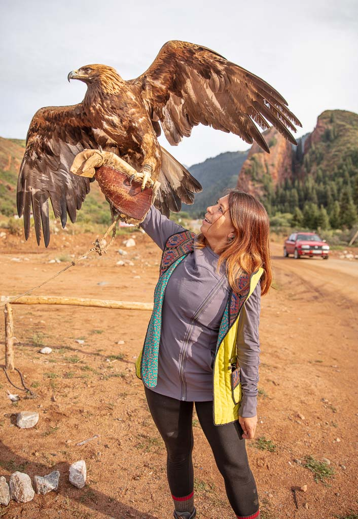 Jeti Oguz, golden eagle, eagle Kyrgyzstan, Kyrgyzstan, solo female travel central asia, Adventures of Nicole, Adventures of Lil Nicki