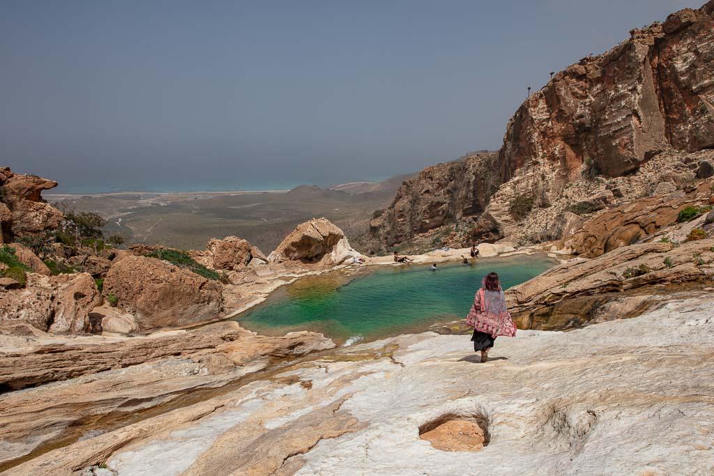 Socotra, Socotra Island, Yemen, Homhil, Homhil Protected Area, natural infinity pool