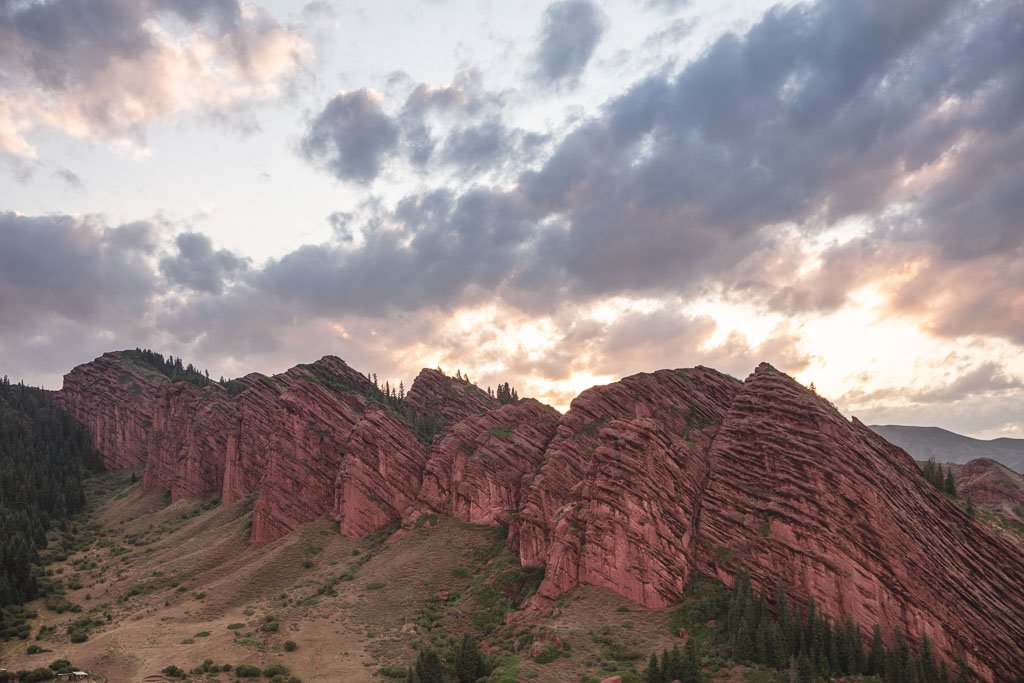 Jeti Oguz, Jeti Oguz sunset, Kyrgyzstan
