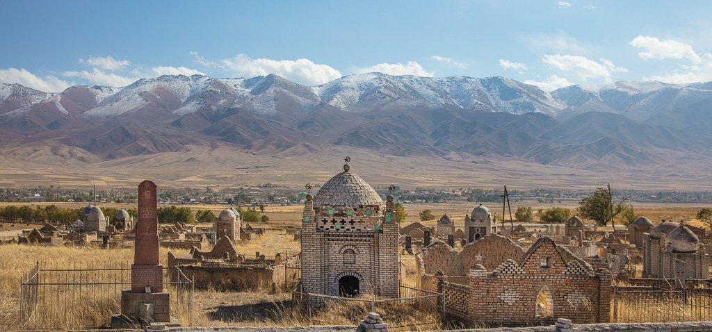 Jumgal, Kyrgyz Cemetery, Kyrgyzstan