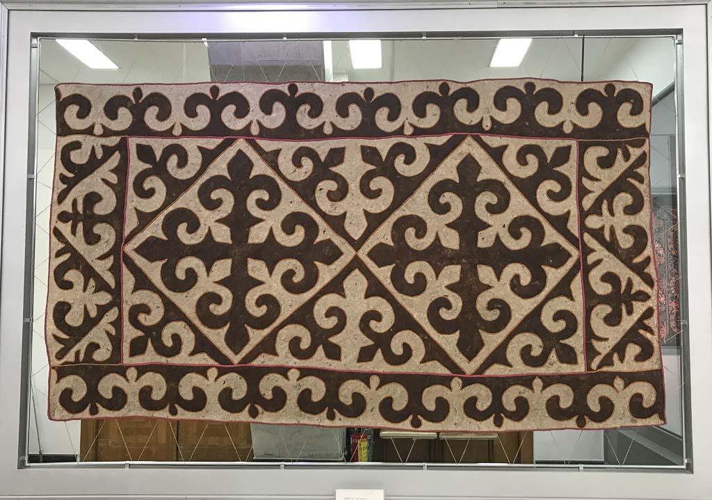 A Kasteyev Museum, Almaty, Kazakhstan, Kazakh felt, felting, felt carpet