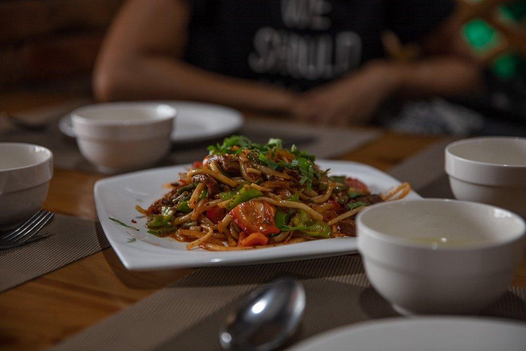 Laghman, Uyghur, Kyrgyzstan, Karakol, Cafe Zarina, Uyghur food, Dungan food