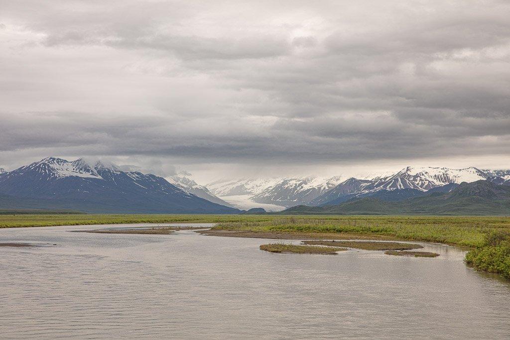 Denali Highway, Alaska, Maclaren Glacier, Maclaren River