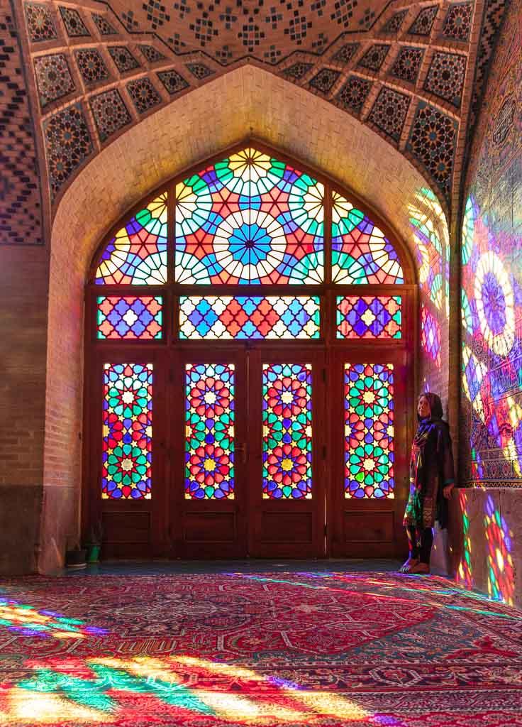 Shiraz, Nasir al Molk, Nasir al Molk Mosque, Pink Mosque pink mosque Shiraz, Fars, Iran, Solo female travel Iran
