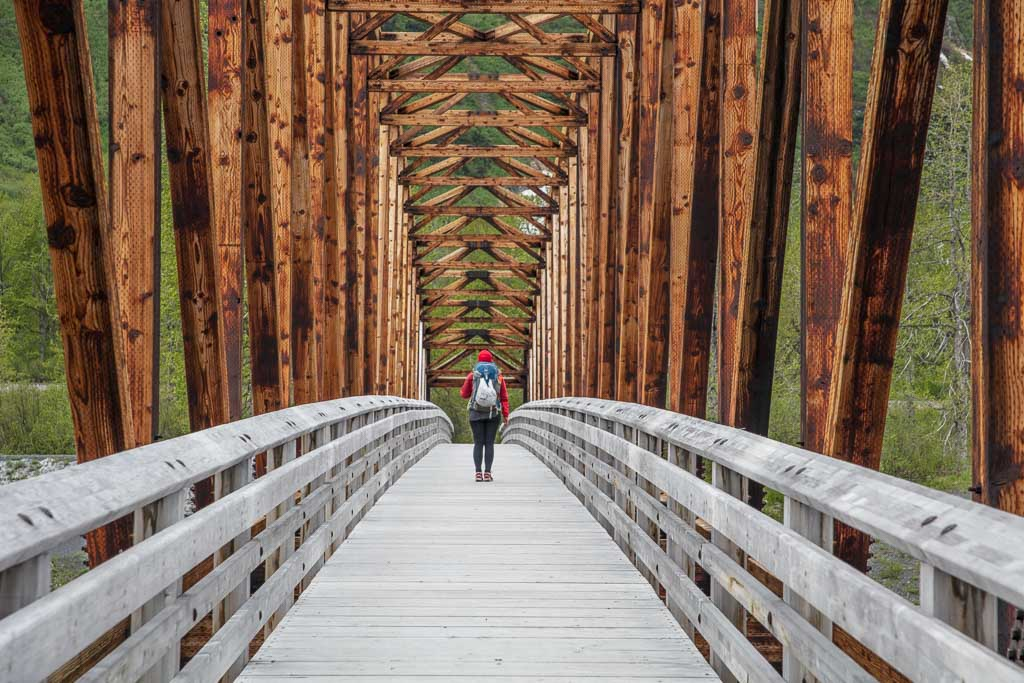 spencer glacier whistle stop, Chugach State Park, Chugach, Spencer Glacier, Alaska, bridge