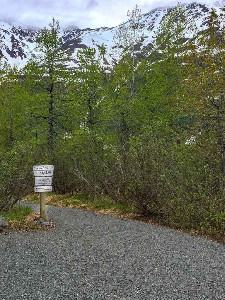spencer glacier whistle stop, spencer glacier trail