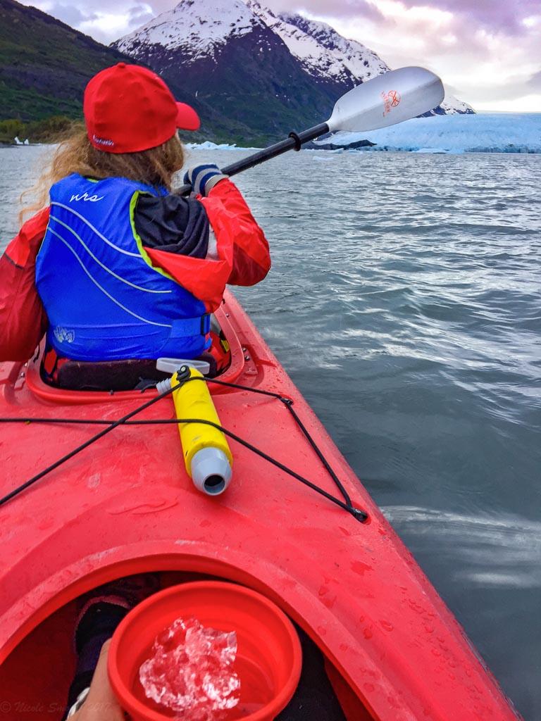 spencer glacier whistle stop, kayak spencer glacier, kayak spencer lake