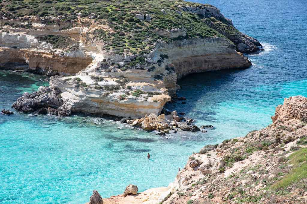Lampedusa, Lampedusa travel, Lampedusa travel guide, Italy, Southern Italy, Sicily, Pelagie, Pelagie Islands. Spiagga dei Conigli, Isola dei Conigli, Rabbit Beach