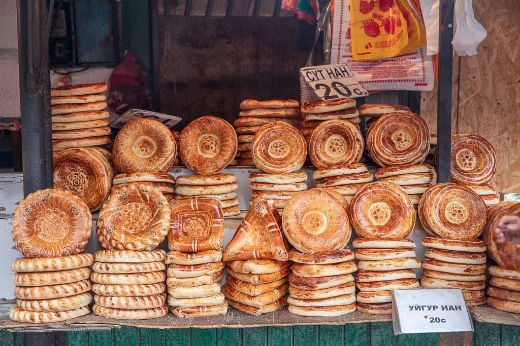 Non, non bread, Osh Bazaar, Kyrgyzstan, Bishkek