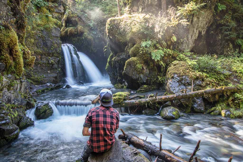 10 day Alaska itinerary, Girdwood, Virgin Creek, Virgin Creek Falls, Virgin creek waterfall, Alaska, Free things to do in Anchorage