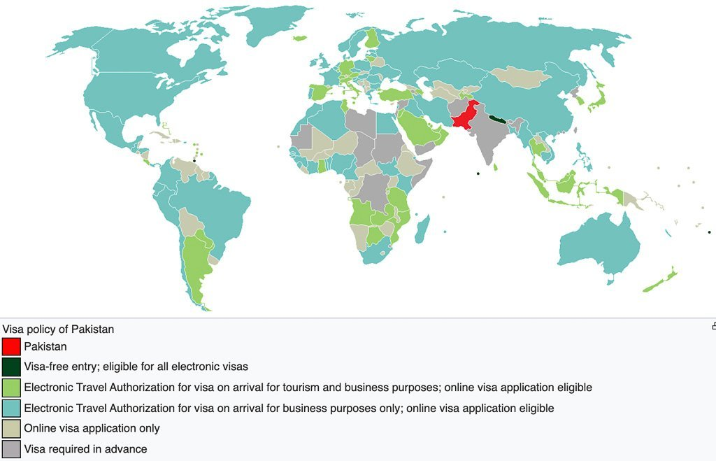 Visa policy of Pakistan