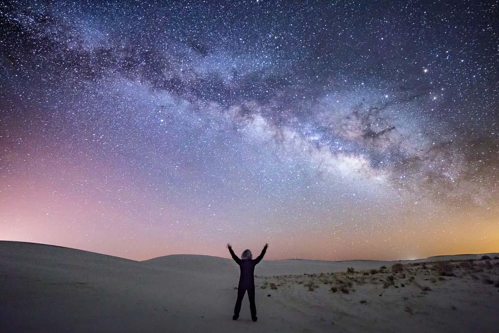 milky way, milky way white sands, stargazing white sands, White Sands, New Mexico, White Sands New Mexico, White Sands National Park, White Sands National Monument, USA, gypsum