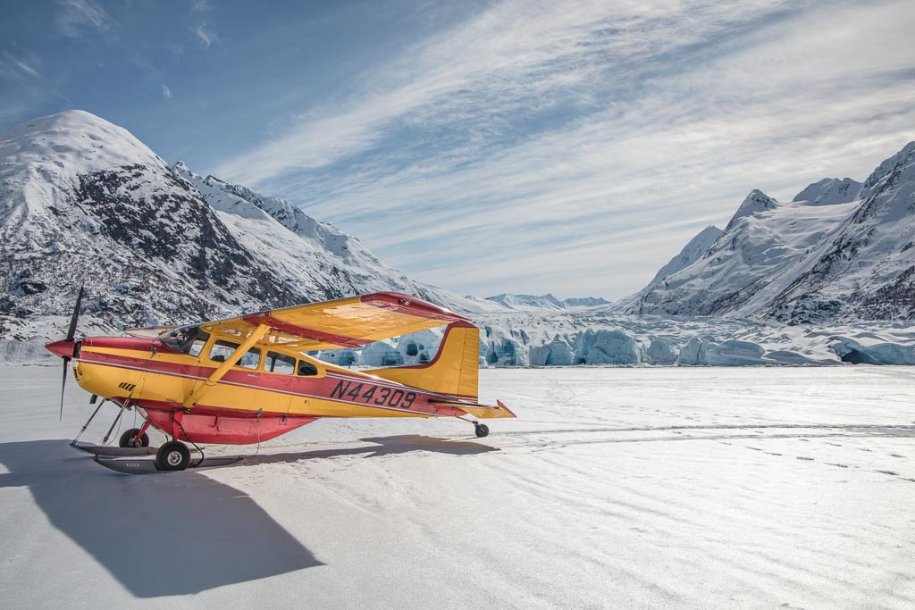 Alaska plane, Alaska air taxi, Alaska flightseeing, Alaska Travel guide, 20 mile, 20 mile glacier
