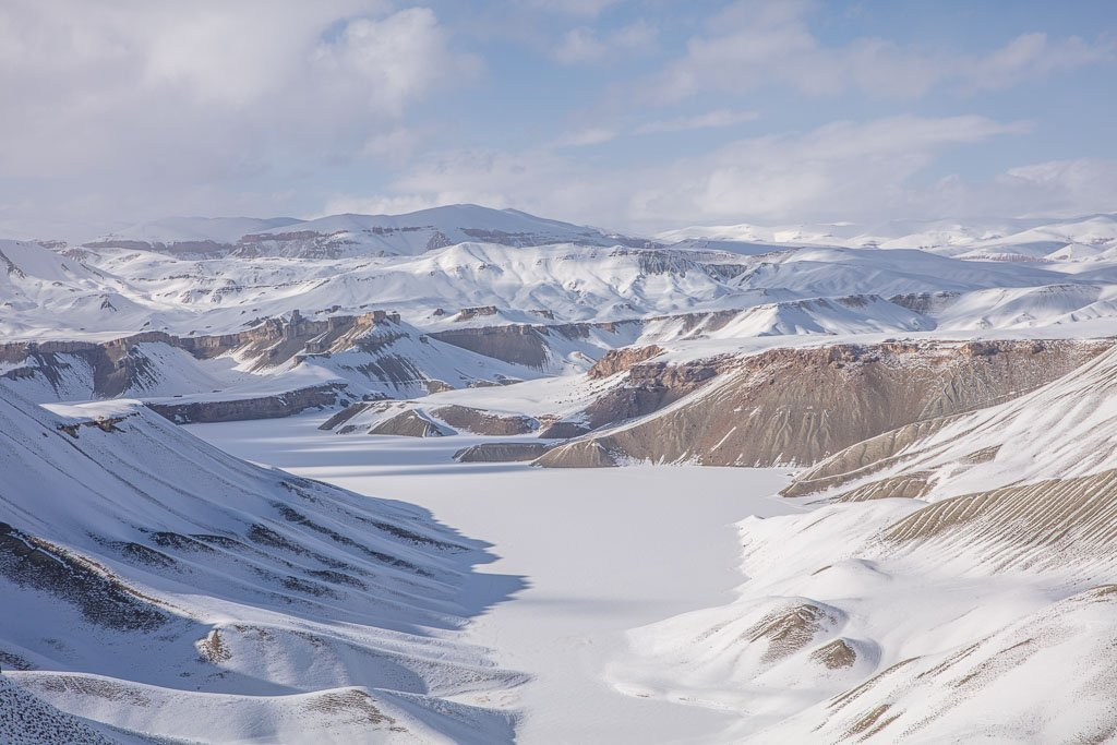 Band e Amir in winter, Afghanistan, band e zulfiqar, band e zulfiqar winter, bamyan winter