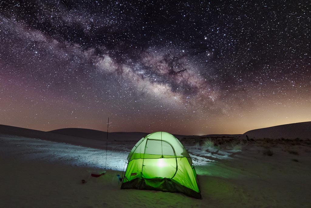 White Sands National Monument, White Sands, New Mexico, milky way, tent, top 10 in travel 2016, camp like a boss