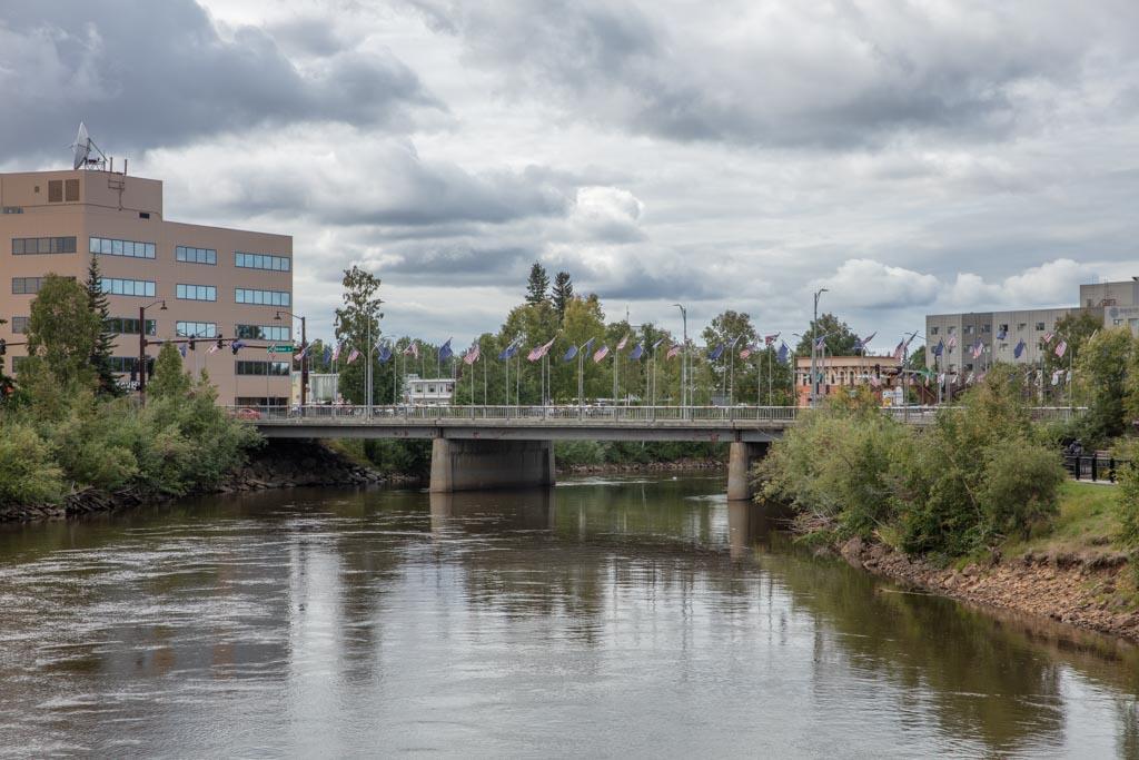 Downtown Fairbanks, Fairbanks, Alaska, Chena River