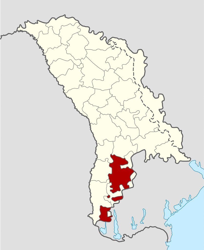 Gagauzia map