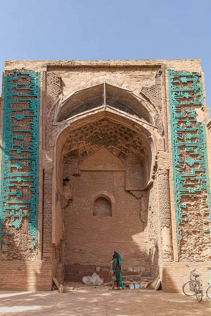Adventures of Nicole. Adventures of Lil Nicki, Friday Mosque Herat, Ghorid architecture, Great Mosque of Herat, Herat, Afghanistan, Ghorid portal