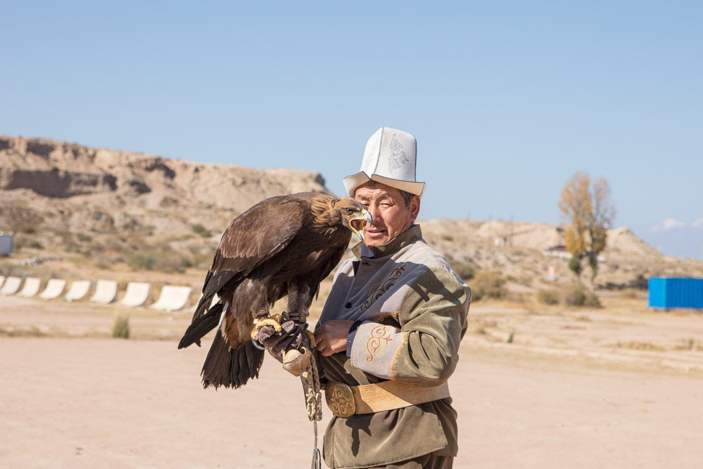 Eagle hunting Kyrgyzstan, Eagle hunting, Issykul, golden eagle, Kyrgyz eagle hunter