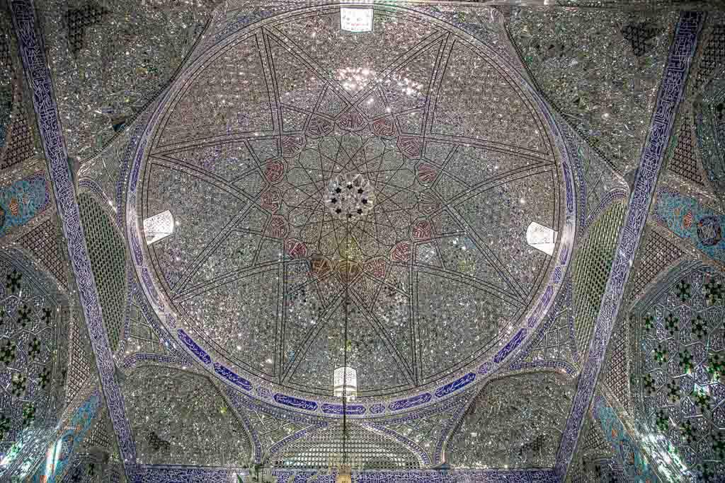Imam Shahzade Fazel Complex, Imam Shahzade Fazel Shrine, Imam Shahzade Fazel Mausoleum, Shahzade Fazel Mausoleum, Shahzade Fazel Tomb, Yazd, Iran, Middle East, Persia, Shahzade Fazel ceiling, Shahzade Fazel Dome