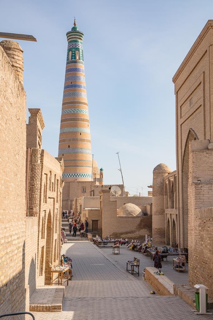 Uzbekistan, Uzbekistan travel guide, Uzbekistan travel, Uzbekistan guide, Khiva, Islam Khodja Minaret