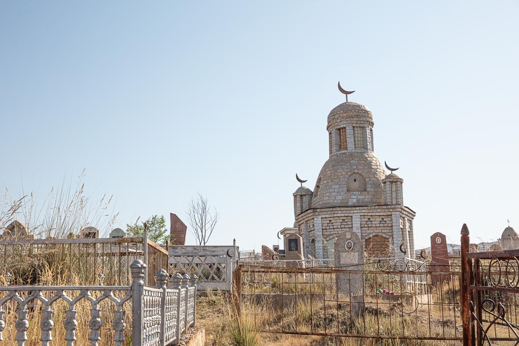 Kegen, Kazakhstan, Karkara border, Karkara border crossing, Kazakh cemetery, Kegan cemetery