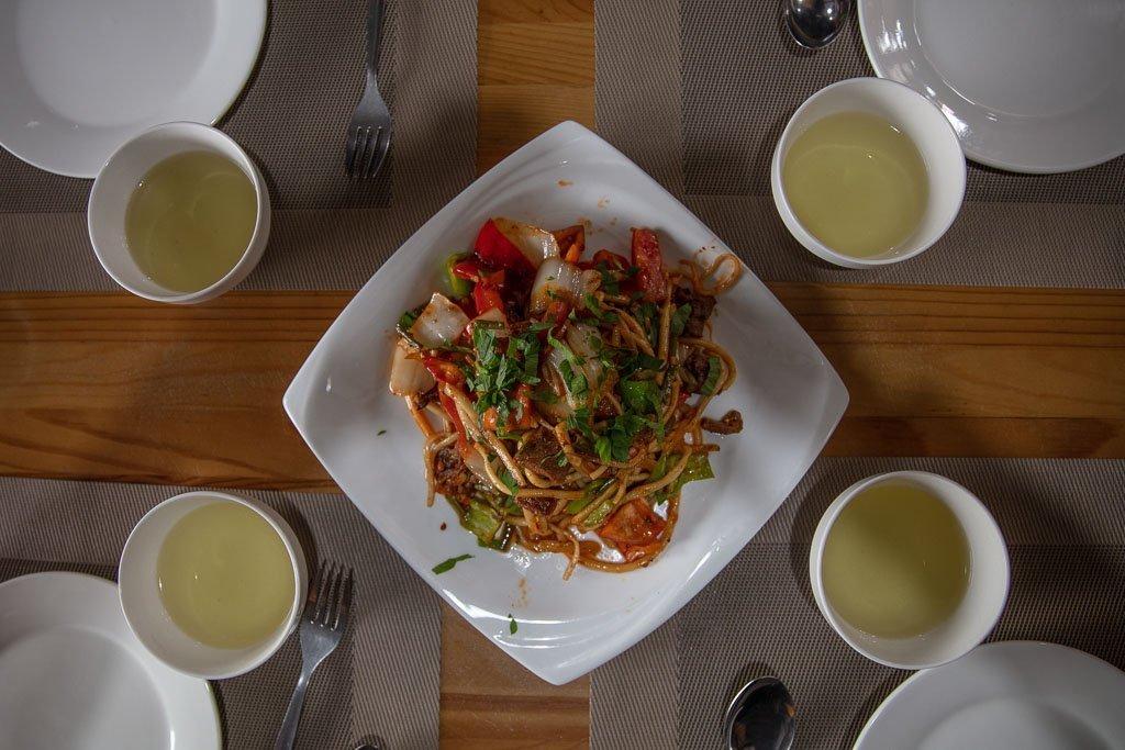 lagman, laghman, Cafe Zarina, Kyrgyzstan, Karakol, Karakol food, Karakol restaurants, Uyghur food