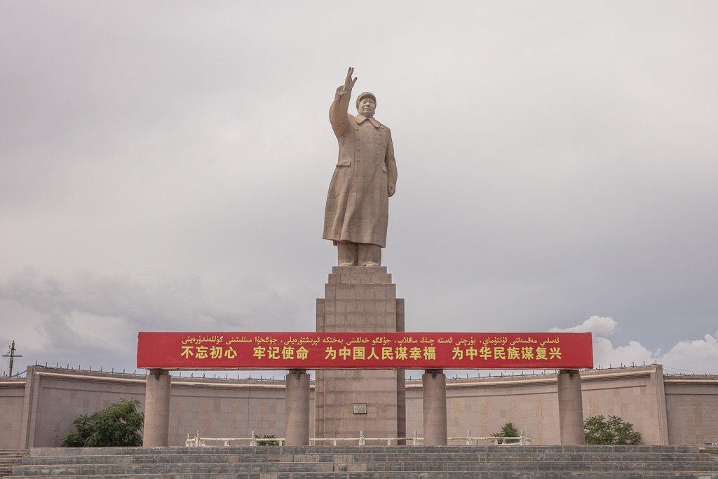 Kashgar, Kashi, Xinjiang, China, Western China, Kashgar Travel Guide, Kashgar Travel, Kashi Travel, Kashi Travel Guide, Mao Statue, Mao, Mao Kashgar, Mao Kashi, Mao statue Kashi, Mao Statue Kashgar