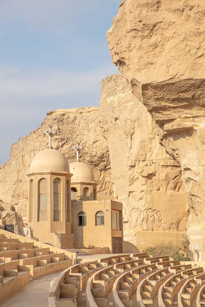 Monastery of Saint Simon, Monastery of Saint Simon the Tanner, Garbage City, Manshiyat Nasser, Zabbaleen Church, Coptic Church, Coptic Christian, Coptic Cairo, Cairo, Egypt, North Africa, Africa