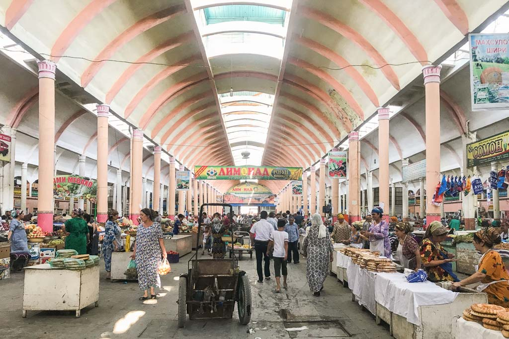 Panjshanbe Bazaar, Khujand, Tajikistan