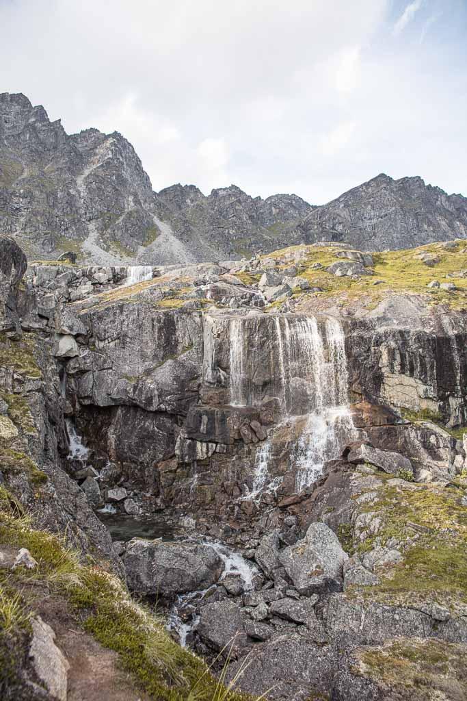 Reed Lakes waterfall, Reed Lakes, Reed Lakes Hike, Reed Lakes Alaska, Hatcher Pass, Alaska