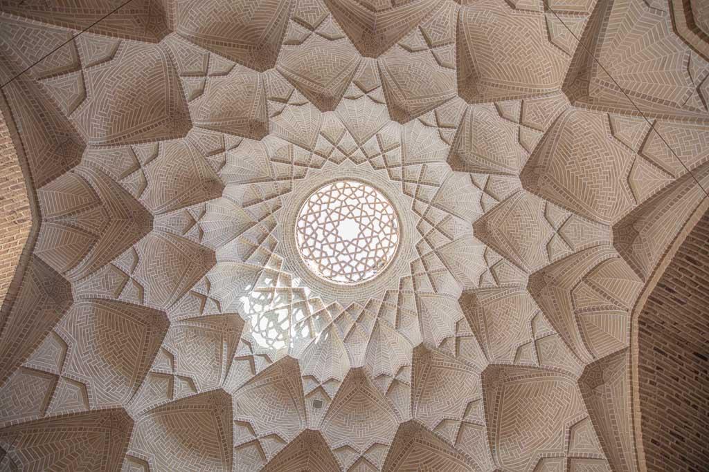 Shahzade Fazel Bazaar, Yazd Bazaar, Bazaar, Shahzade Fazel Bazaar ceiling, Yazd Bazaar ceiling, Bazaar ceiling, Yazd, Iran, Middle East, Persia