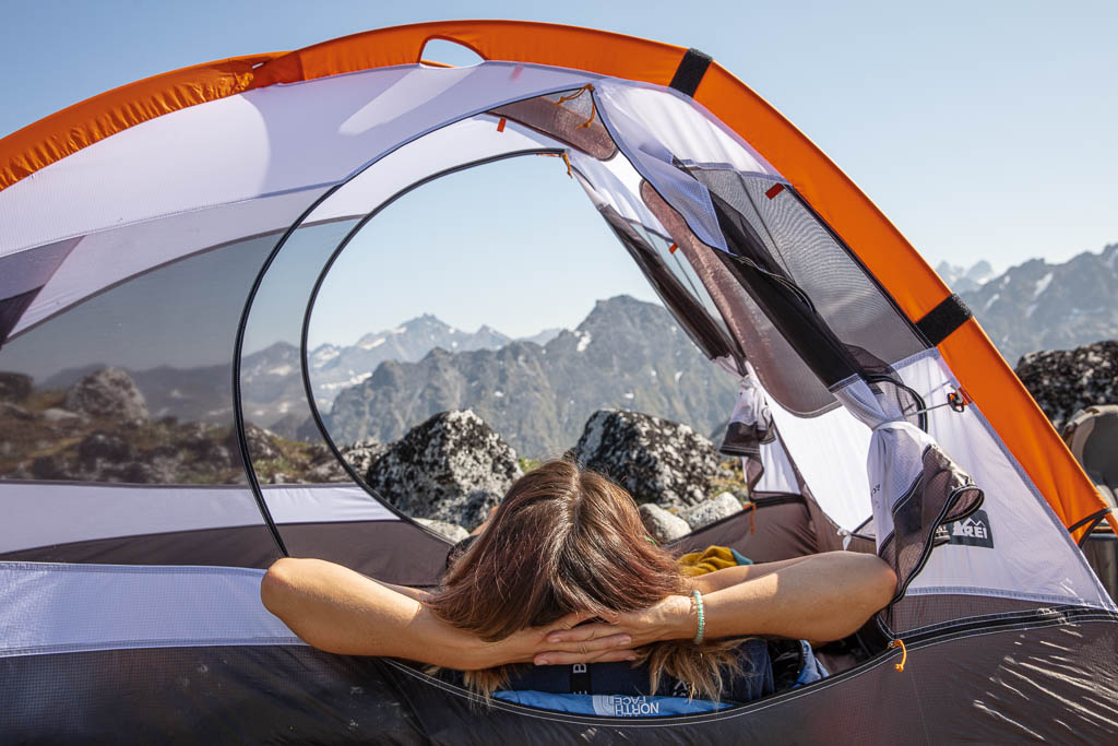 camping, camping Alaska, Snowbird Glacier, REI tent, how much does it cost to travel in Alaska