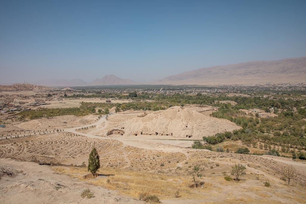 Takht e Rustam, Samangan, Afghanistan, Northern Afghanistan, Takht e Rustam Buddhist Caves and Bazaar