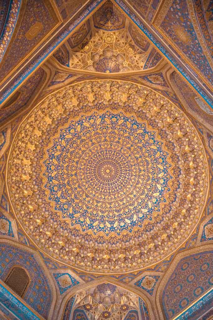Uzbekistan, Registan, Uzbekistan travel guide, Uzbekistan travel, Uzbekistan guide, Samarkand, Tilla Kari Madrasa, Tilla Kari, Tilla Kari dome