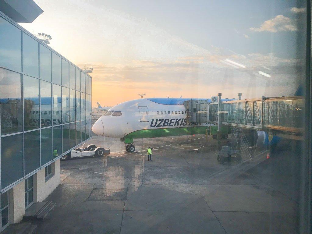 how to get cheap flights, Uzbekistan Airways, Tashkent Airport