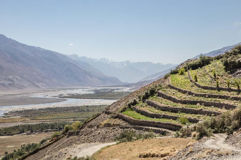 Wakhan, Tajik Wakhan, Wakhan Valley, Wakhan Tajikistan, Wakhan Valley Tajikistan, Tajikistan, Gorno Badakhshan Autonomous Oblast, Badakhshan, GBAO, Pamir, Yamchun, terraces, Tajikistan terraces, Vichkut, Vikchut