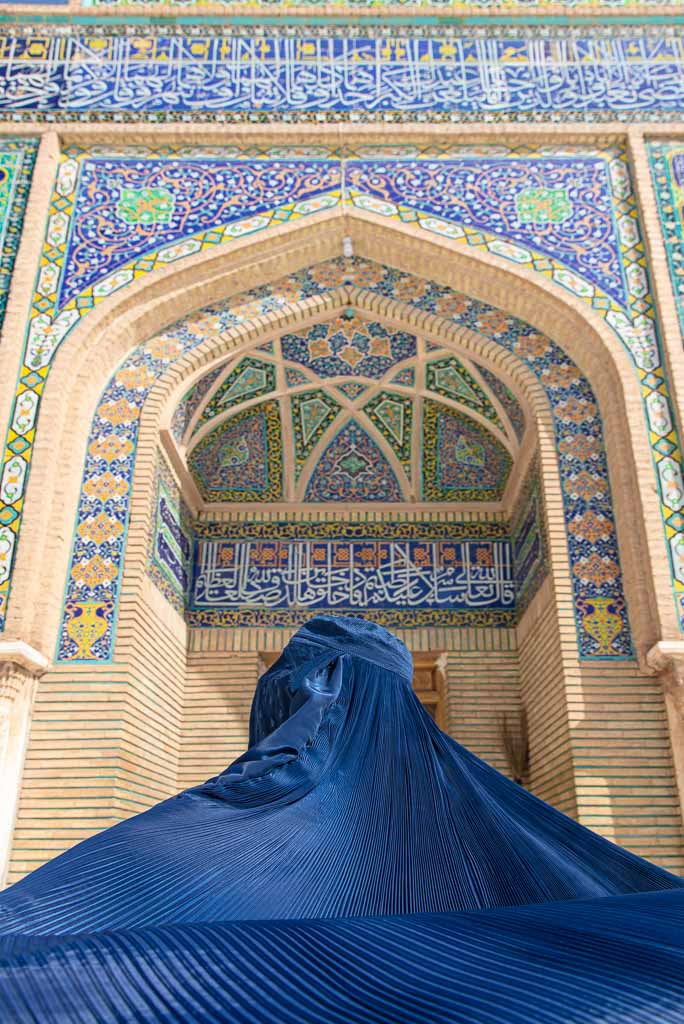 Great Mosque of Herat, Herat, Afghanistan, chadri, burka, burqa, Friday Mosque Herat