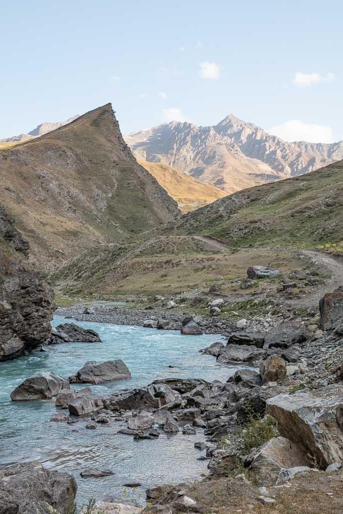 Yagnob River, Yaghnob, Yagnob, Yagnob Valley, Tajikistan, Central Asia, Yaghnob