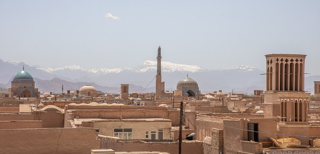 Yazd skyline, Yazd old city skyline, Yazd, Old City, Yazd Old City, Iran, Middle East, Persia
