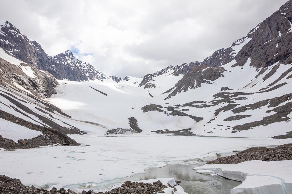 Flute Glacier, Glacier, Eagle & Symphony Lakes, Symphony Lake, Eagle River, Alaska, Chugach, Chugach State Park